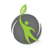 HEAL Logo of a figure with a leaf